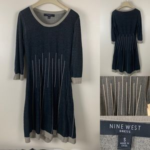 Nine West Dress Fit and Flare sweater dress